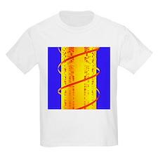 DNA helix and autoradiogram - T-Shirt