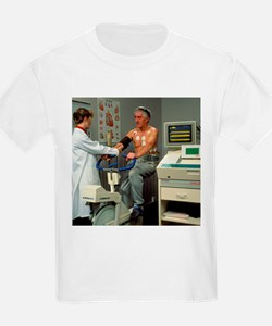 ECG stress test on male patient - T-Shirt