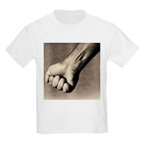 Man's clenched fist - Kids Light T-Shirt