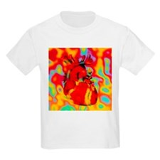 Artwork of human heart with abstract colours - Kid