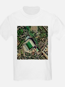 Chelsea's Stamford Bridge stadium, aerial - T-Shirt