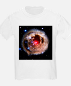 Light echoes from exploding star - T-Shirt