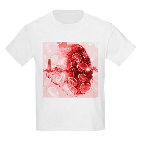 Heart and ECG - Kids Light T-Shirt
