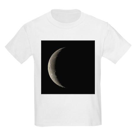 Waning crescent Moon - Kids Light T-Shirt