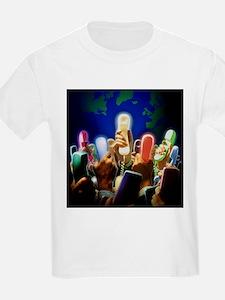 Conceptual image of global communication - T-Shirt