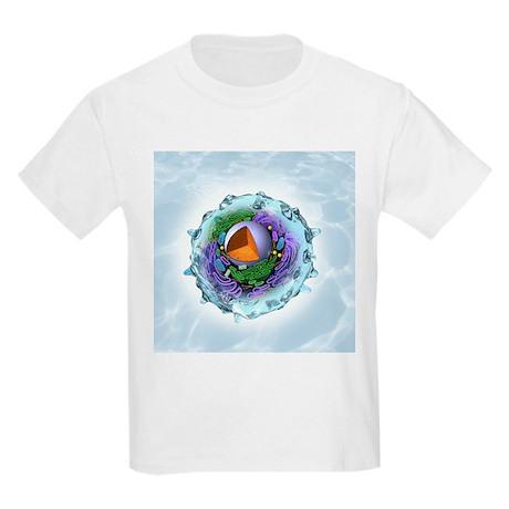 Animal cell structure, artwork - Kids Light T-Shir