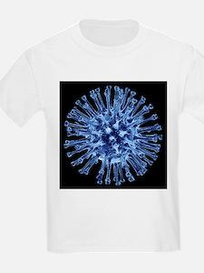 H1N1 flu virus particle, artwork - T-Shirt