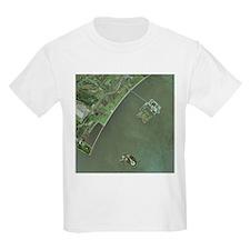 Ellis and Liberty Islands, aerial image - T-Shirt