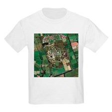Menwith Hill spy base, aerial image - T-Shirt