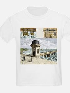 19th-century wave power - T-Shirt