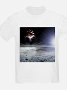 Apollo 11 Moon landing, computer artwork - T-Shirt