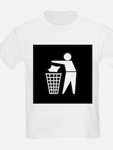 No litter sign - T-Shirt
