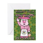 Mrs. Easter Bunny Greeting Card