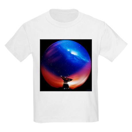 Spacecraft tracking antenna - Kids Light T-Shirt