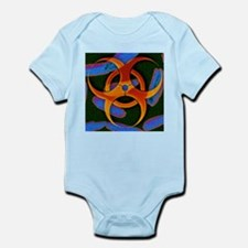 Anthrax bacteria and biohazard symbol - Infant Bod