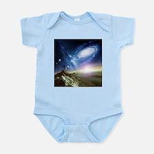 Colliding galaxies, artwork - Infant Bodysuit