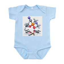 Tabun nerve agent molecule - Infant Bodysuit