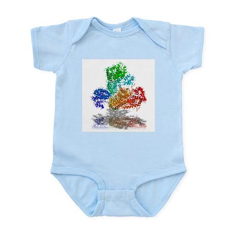 Anthrax toxin, molecular model - Infant Bodysuit