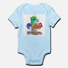 Anthrax toxin, molecular model - Infant Bodysuit