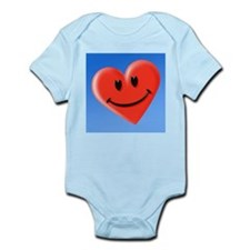 Smiley heart face symbol - Infant Bodysuit