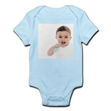 Baby boy with toothbrush - Onesie