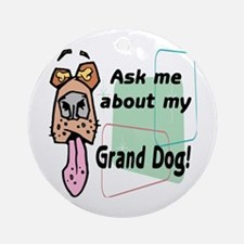 grand dog Ornament (Round)