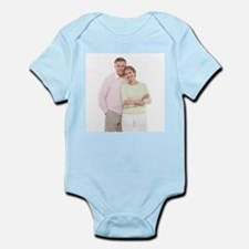 Happy senior couple - Infant Bodysuit