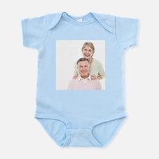 Happy senior couple - Infant Bodysuit