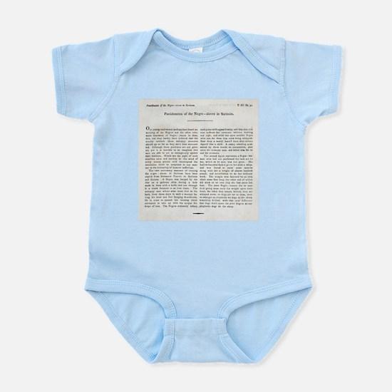 Punishment of Slaves text - Infant Bodysuit