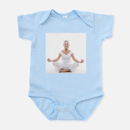 Senior woman doing yoga - Infant Bodysuit