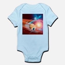 Collision between solar systems - Infant Bodysuit