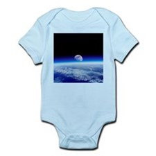 Moon rising over Earth's horizon - Infant Bodysuit