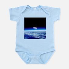 Moon rising over Earth's horizon - Infant Bodysuit