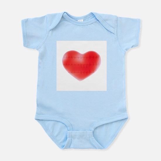 Heart and ECG - Infant Bodysuit