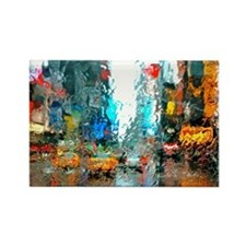 Times Sq. No. 7 Rectangle Magnet