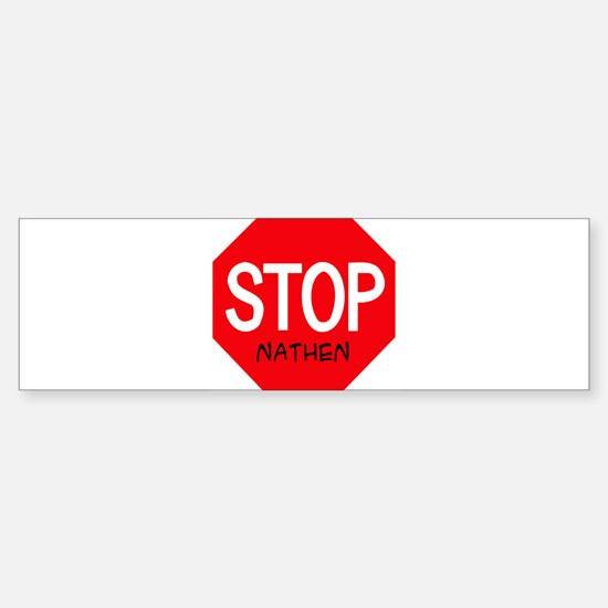 Stop Nathen Bumper Car Car Sticker