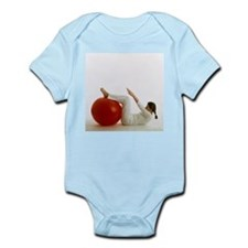 Woman using an exercise ball - Infant Bodysuit