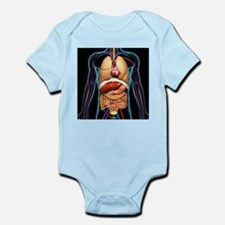 Human anatomy, artwork - Infant Bodysuit