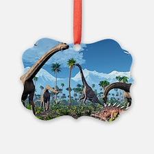 Brachiosaurus dinosaurs, artwork - Ornament