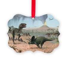 Late Cretaceous life, artwork - Ornament