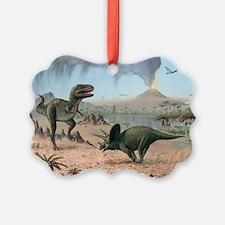 Late Cretaceous life, artwork - Ornament
