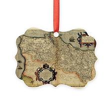 Ortelius's map of Portugal, 1570 - Ornament