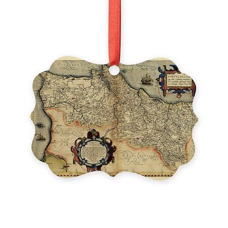 Ortelius's map of Portugal, 1570 - Picture Ornamen