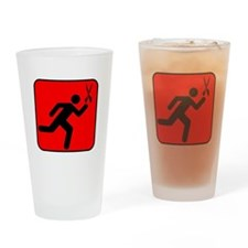Running with Scissors Drinking Glass