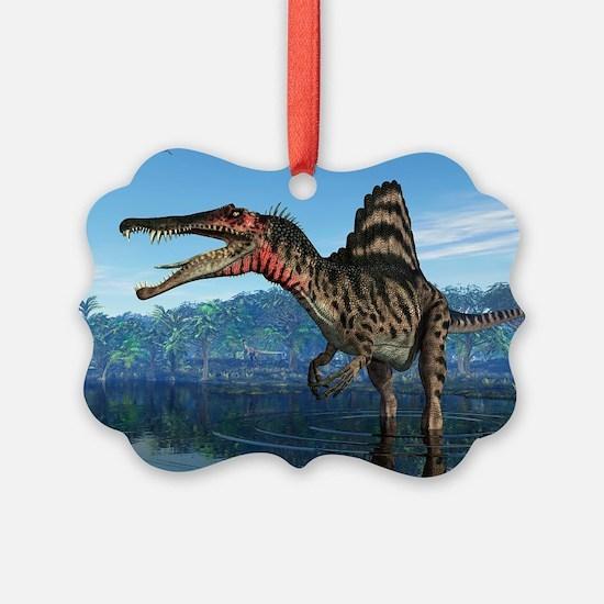 Spinosaurus dinosaur, artwork - Ornament