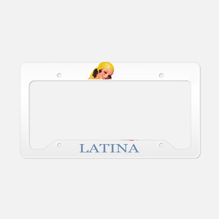 Latina License Plate Holder