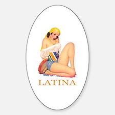 Latina Sticker (Oval)