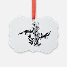 Thistle, lino print - Ornament