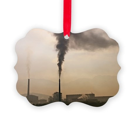 Air pollution - Picture Ornament