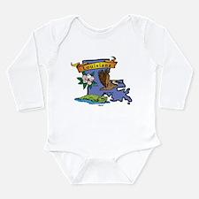 Louisiana Map Long Sleeve Infant Bodysuit
